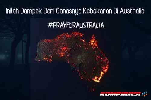 Inilah Dampak dari Ganasnya Kebakaran di Australia