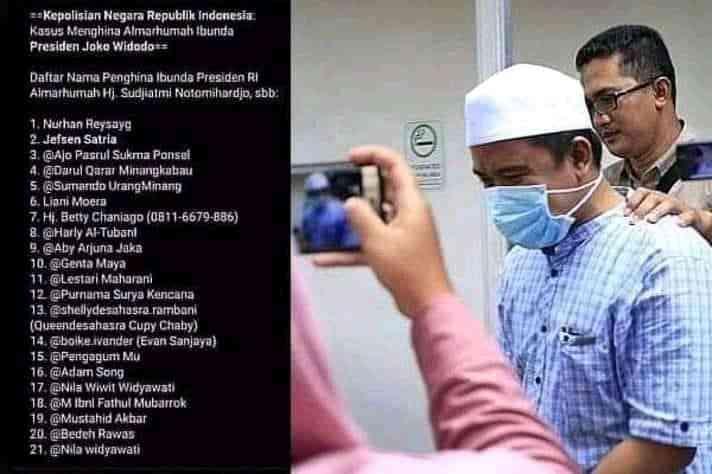 Penghina Ibunda Presiden Jokowi Di Sosial Media Di Tangkap , Pelaku Di Amankan Polisi