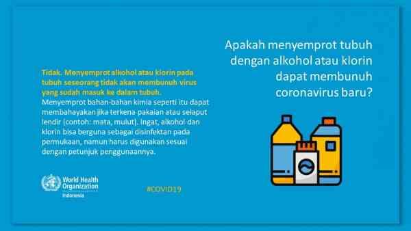 who indonesia ingatkan bahaya disinfektan di tubuh