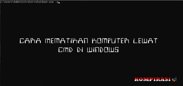 Cara Mematikan Komputer Lewat CMD Di Windows