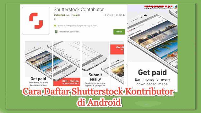 cara daftar akun shutterstock contributor