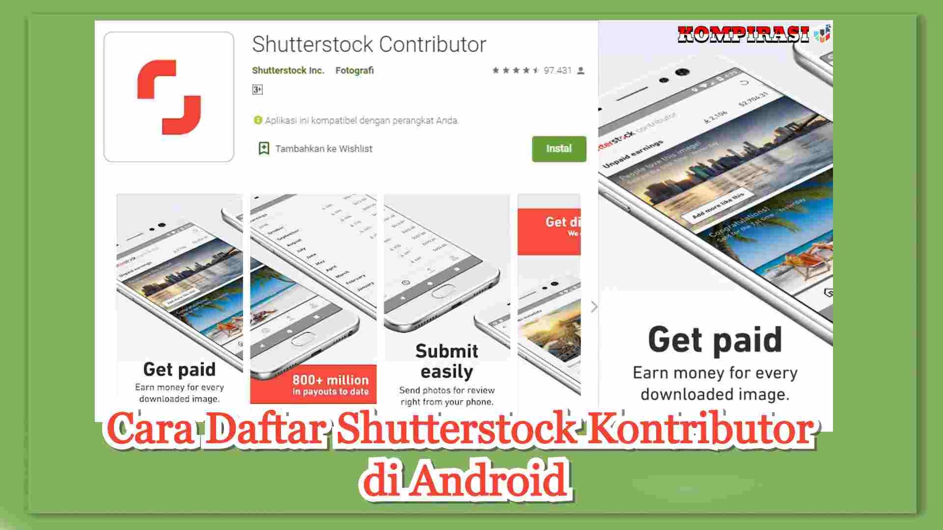 Cara jualan foto di shutterstock,cara daftar shutterstock kontributor di